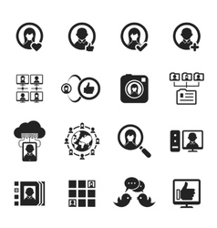 Social media and social network icons vector image