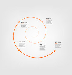 Spiral circular chart color infographics step by vector