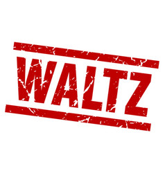 square grunge red waltz stamp vector image