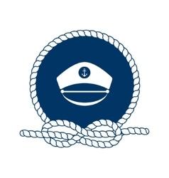 symbol sailors sail cruise and sea vector image
