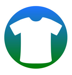 t-shirt sign white icon in bluish circle vector image