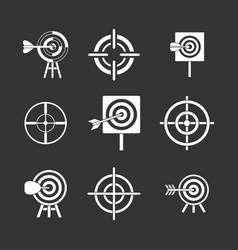 target icon set grey vector image
