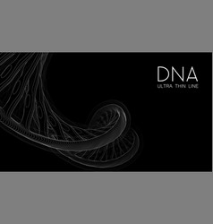 ultra thin line dna double helix vector image
