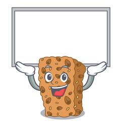 Up board granola bar character cartoon vector