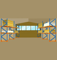 warehouse interior banner vector image