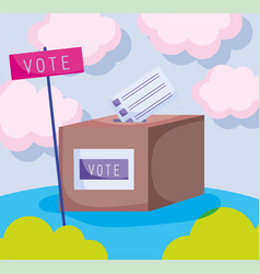 world ballot box politics election democracy vector image