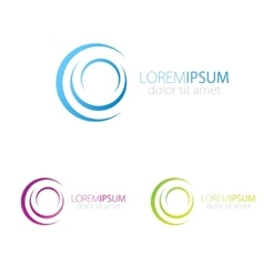 Blue pink and green logotype for social vector image