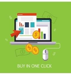 Buy In One Click Concept Art vector image