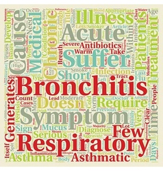 Issues on Asthmatic Bronchitis text background vector image vector image