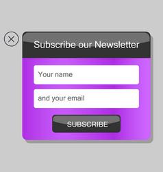 news subscription window vector image