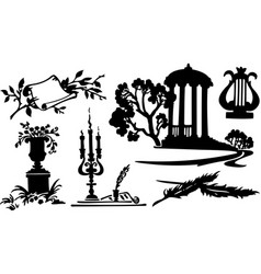 poetry symbols vector image