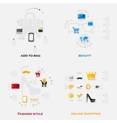 Set of modern stickers Fashion vector image