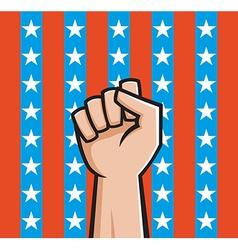 american fist vector image