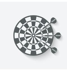 darts sport icon vector image