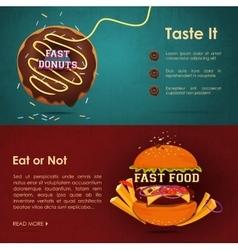 Fast food menu - vector image