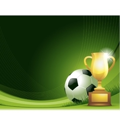 Green abstract Soccer background with ball and vector image vector image