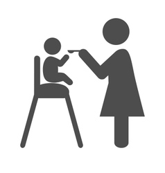 Mother feed the baby pictogram flat icon isolated vector image
