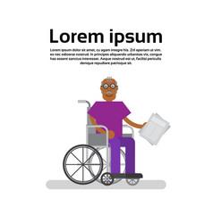 senior african american man on wheel chair vector image