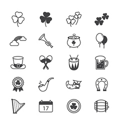 St Patricks Day Icons Line vector image