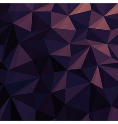Triangular Low Poly Dark Blue Pattern vector image vector image