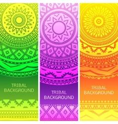 Tribal ethnic vintage banners vector