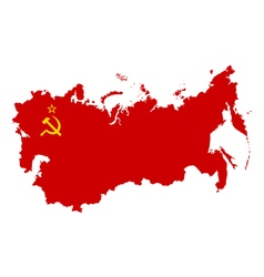 USSR Map silhouette vector image