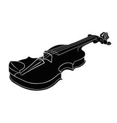 Black - White Musical instrument violin vector image