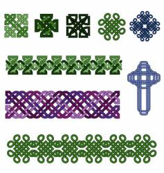 celtic knot collection vector image