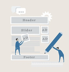Element of web development concept icon in flat vector image vector image