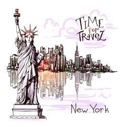 new york sketch vector image vector image