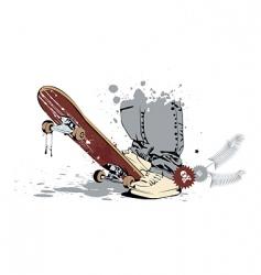 Skateboard rider vector