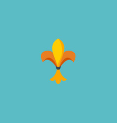 flat icon fleur de lis element vector image vector image