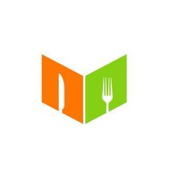 food book recipe logo vector image