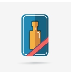 Gift bottle icon vector image