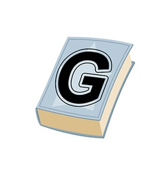 Letter G on cover of retro books Concept of vector image vector image