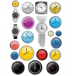 watches and clocks vector image vector image