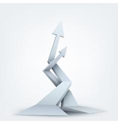 Abstract 3d arrows vector
