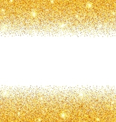 Abstract Golden Sparkles on White Background Gold vector