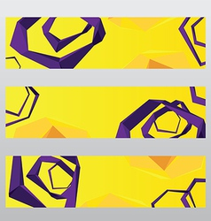 abstract shape polygon header frame banner vector image
