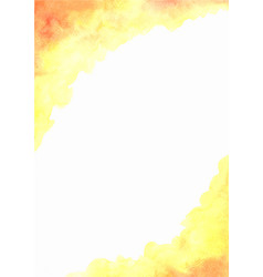 Abstract yellow and orange color field watercolor vector