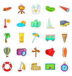 All included icons set cartoon style vector