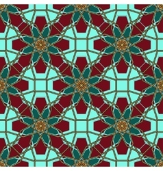 Arabic Islamic seamless pattern Ramadan Kareem on vector image