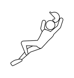 Baseball player pictogram vector