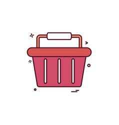 basket buy cart shop shopping shopping basket vector image
