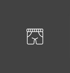 boxer short icon sign symbol vector image