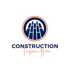 brick construction inspiration logo vector image