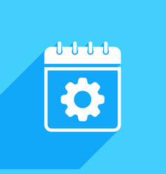 calendar icon with settings sign vector image