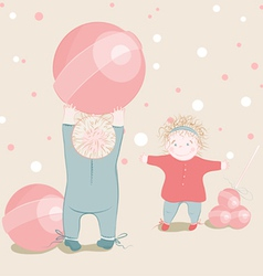 children playing lollipop balls vector image