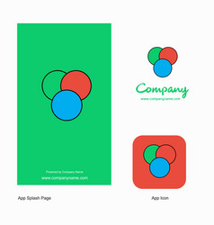 circles company logo app icon and splash page vector image