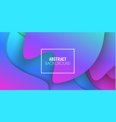 Colorful gradient abstract background fluid vector